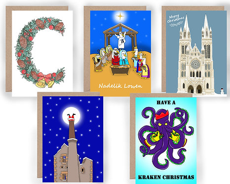 Cornish Christmas Cards A5