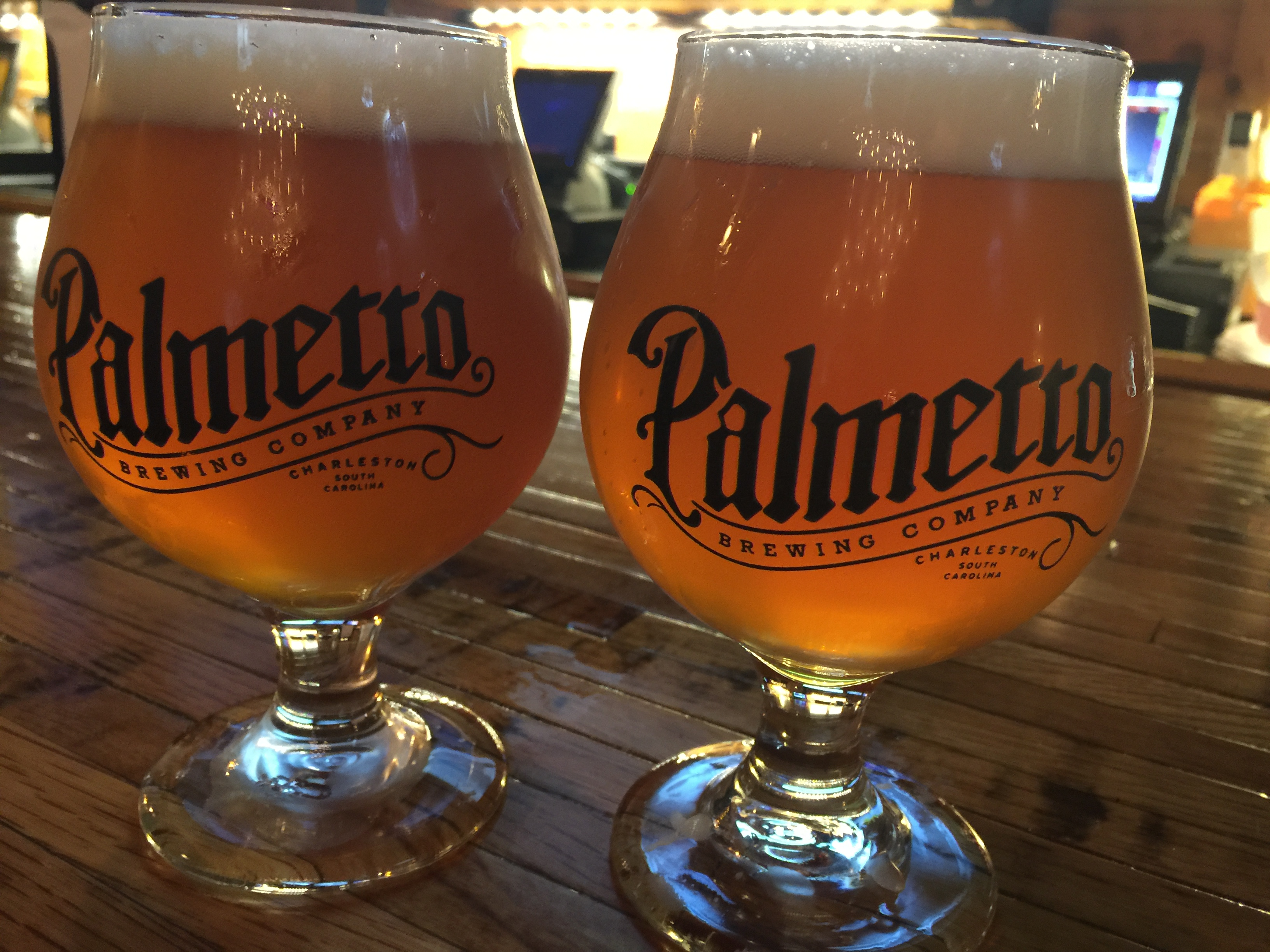 A fresh Palmetto pour at the brewery