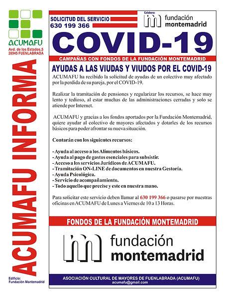 AYUDAS A VIUDAS Y VIUDOS POR EL COVID 19