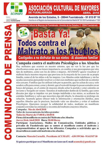ACUMAFU CONTRA EL MALTRATO A LOS ABUELOS
