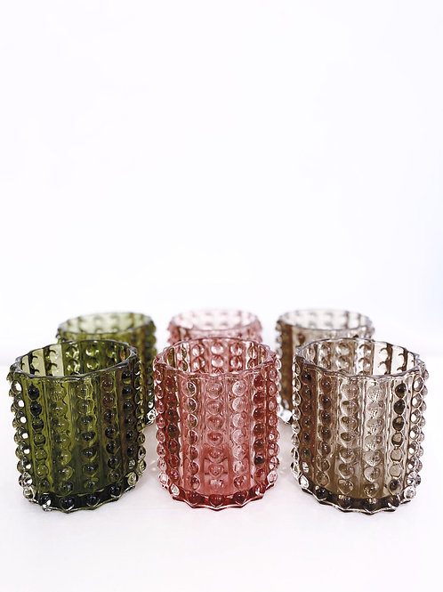 CANDLE SPOT GLAS ( SET VAN 6 )