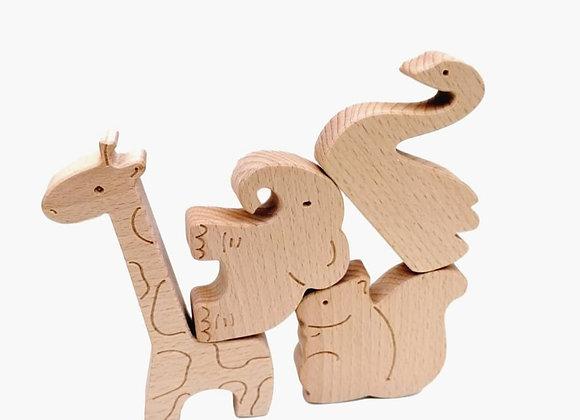 "Holzfiguren ""Tiere"" 4 Stk."