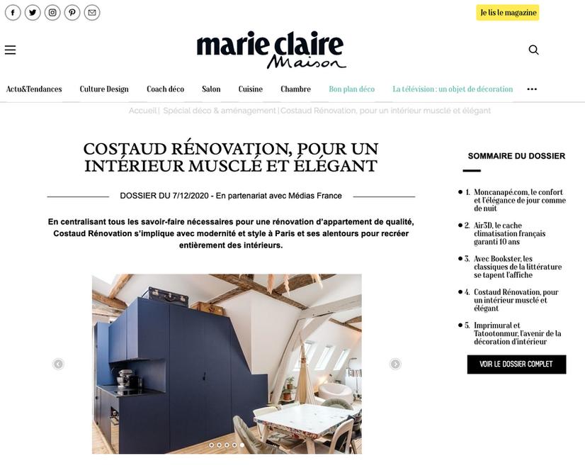 Publication Presse Marie Claire Maison