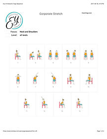 FREE PDF download Corporate Stretch for Neck and Shoulders Sequence for home yoga practise | Eryns Yoga in Barrhaven, Nepean, Ontario