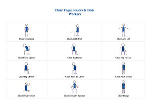 FREE PDF download Chair Yoga Flow Sequence for home yoga practise | Eryns Yoga in Barrhaven, Nepean, Ontario