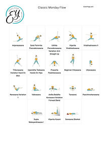 FREE PDF download Classic Monday Flow Sequence for home yoga practise | Eryns Yoga in Barrhaven, Nepean, Ontario