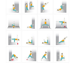 FREE PDF download Wall Sequence for home yoga practise | Eryns Yoga in Barrhaven, Nepean, Ontario