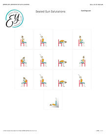 FREE PDF download Seated Sun Salutation Sequence for home yoga practise | Eryns Yoga in Barrhaven, Nepean, Ontario