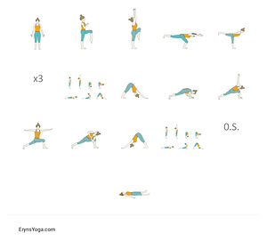 FREE PDF download Power Yoga for Seniors Sequence for home yoga practise | Eryns Yoga in Barrhaven, Nepean, Ontario
