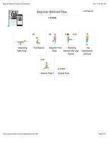 FREE PDF download Beginner Balanced Flow Sequence for home yoga practise | Eryns Yoga in Barrhaven, Nepean, Ontario