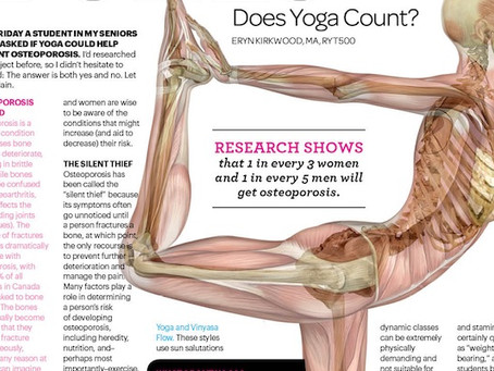 Weight-Bearing For Bones - Does Yoga Count?