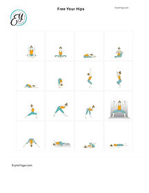 FREE PDF download Free Your Hips Sequence for home yoga practise | Eryns Yoga in Barrhaven, Nepean, Ontario