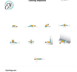 FREE PDF download 9-pose Cooling Sequence for home yoga practise | Eryns Yoga in Barrhaven, Nepean, Ontario