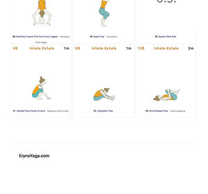 FREE PDF download Hip Stretches Sequence for home yoga practise | Eryns Yoga in Barrhaven, Nepean, Ontario
