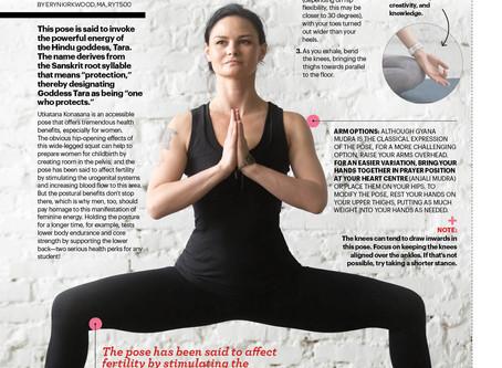 Feature Yoga Pose: Utkatasana Konasana