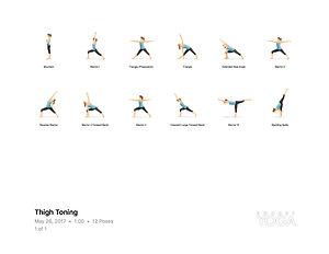 FREE PDF download Yoga for Thigh Toning Sequence for home yoga practise | Eryns Yoga in Barrhaven, Nepean, Ontario