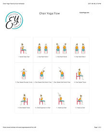 FREE PDF download Full Body Chair Flow Sequence for home yoga practise | Eryns Yoga in Barrhaven, Nepean, Ontario