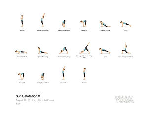 FREE PDF download Sun Salutation C Sequence for home yoga practise | Eryns Yoga in Barrhaven, Nepean, Ontario