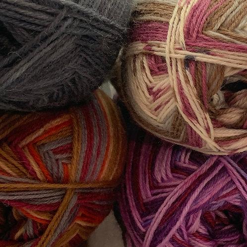 Woolcraft Superwash Sock Yarn 4 ply 100g