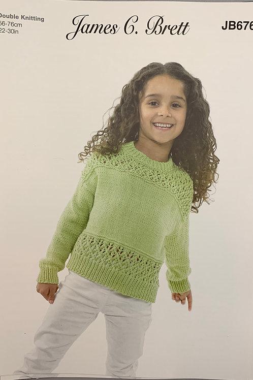 James C Brett JB676 Sweater DK  56-76cm-22-30in