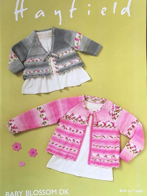 Hayfield 44842 Baby girls & Girls Top in Baby Blossom DK 41-66cm 16-26in