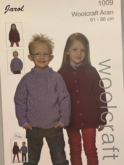 Jarol 1009 Child's Sweater and Jacket Aran 61-86cm/24-34in
