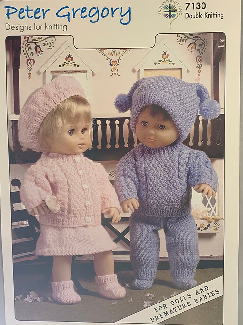 Peter Gregory 7130 Dolls Outfits DK 31-36/48-56cm 12-14in/19-22in
