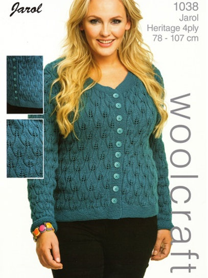 Jarol 1038 Candle Flame Cardigan 4 Ply 78-107cm 32-42in