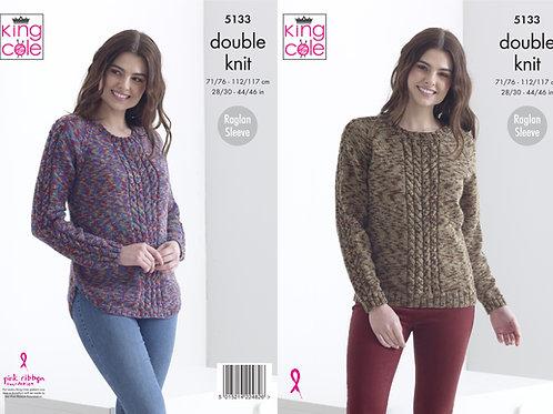 King Cole 5133 DK Sweaters  71cm/28in - 117cm/46in