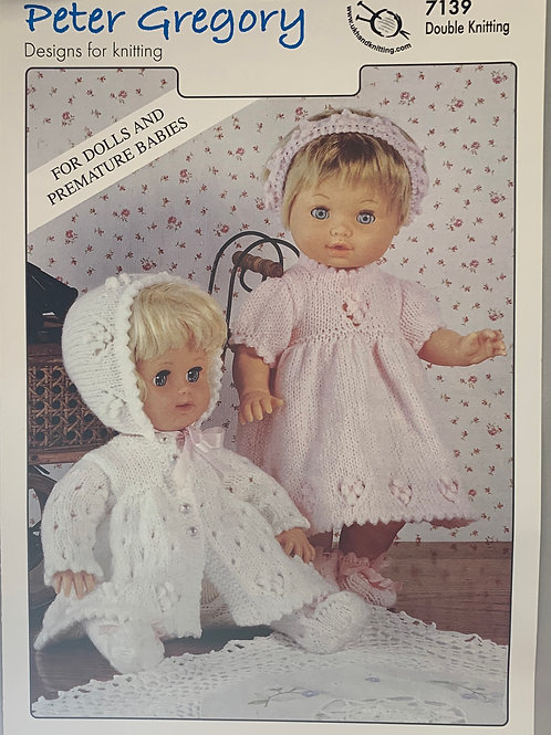 Peter Gregory 7139 Dolls Outfits DK 31-36/48-56cm 12-14in/19-22in