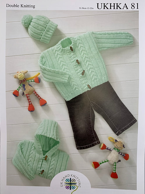 UKHKA 81 Jackets and Hat DK 31-56cm 12-22in