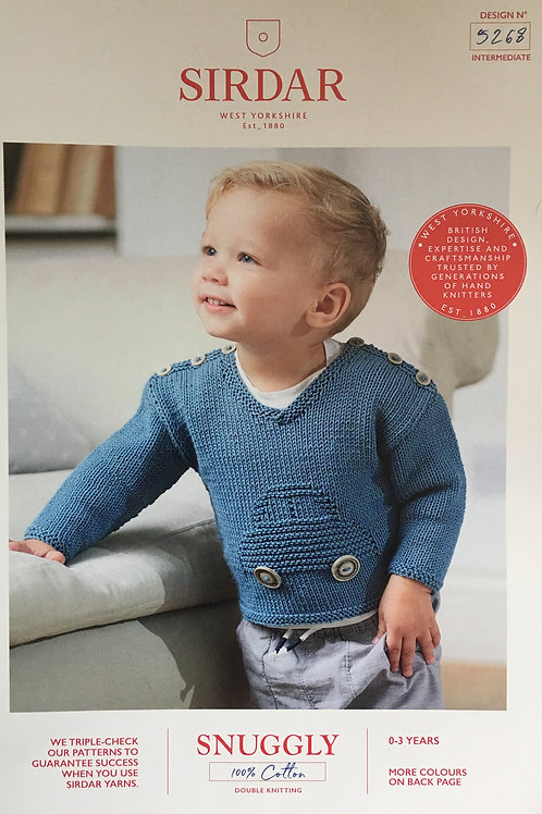 Sirdar 5268 Baby Boy and Boys Sweater DK 41-56cm 16-22in