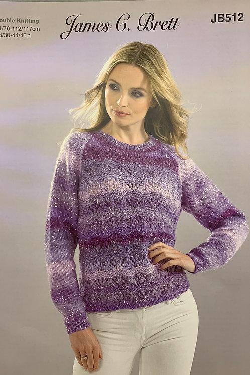 James C Brett JB512 Sweater DK  71/76-112/117cm  28/30-44/46inches