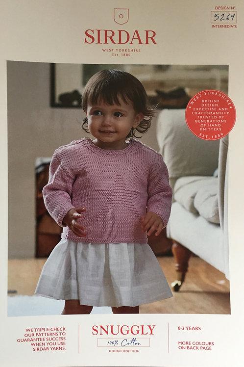 Sirdar 5269 Baby Girl and Girls Sweater DK 41-56cm 16-22in
