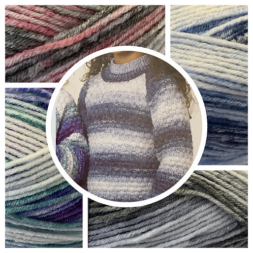 James C Brett JB665 DK Sweater Kit