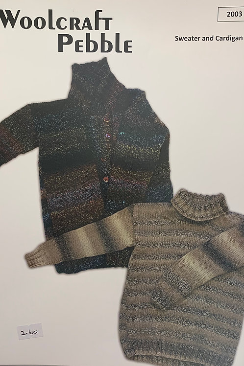 Woolcraft 2003 Sweater and Cardigan Chunky 81/86cm (32/34in)-121/126cm (48/50cm)