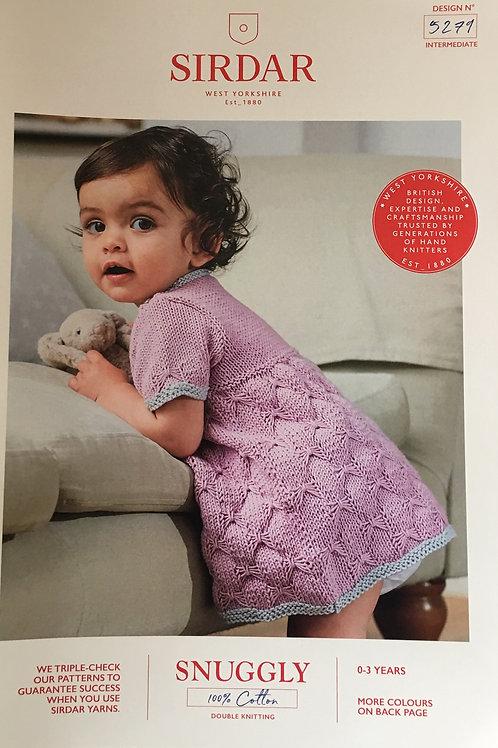 Sirdar 5279 Baby Girl & Girls Dress DK 41-56cm 16-22in