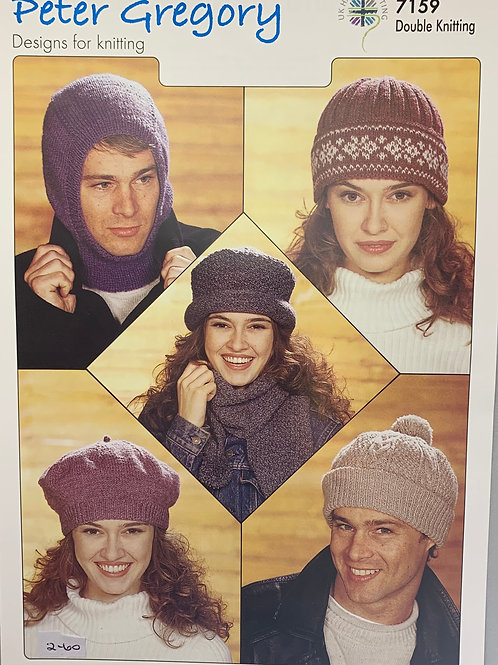 Peter Gregory 7159 Balaclava, Hats and Scarf DK