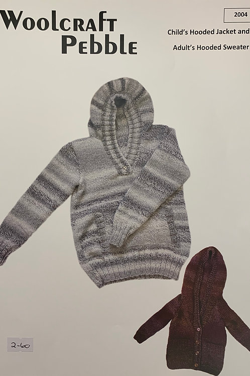 Woolcraft 2004 Childs Hooded Jacket and Adults Hooded Sweater  Chunky