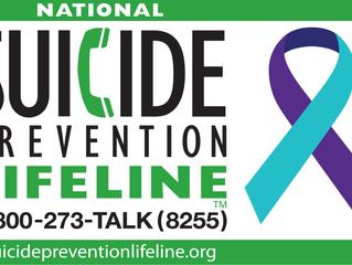 2018 Suicide Prevention Awareness Month Events Calendar
