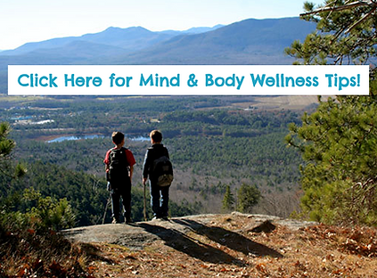 Two young boys over look a mountain view. We have Mind and Body Wellness Tips!