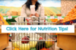 Woman in grocery store shopping for produce. We have Nutrition Tips to help.