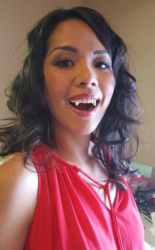 Stephanie Mazzeo - Makeup Artist - Vampire Fangs