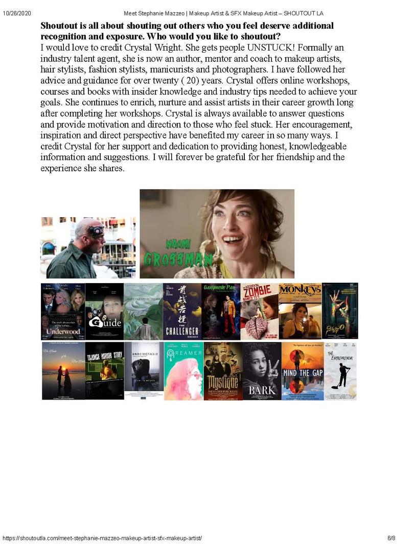 Meet Stephanie Mazzeo - Makeup Artist & SFX Makeup Artist - SHOUTOUT LA (page 6)