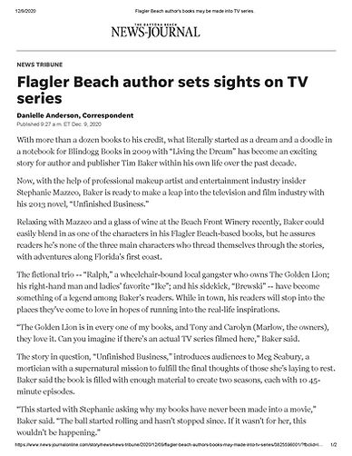 Flagler Beach author's books may be made