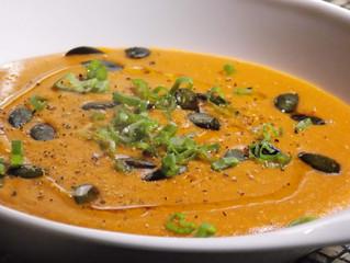 Velouté de tomate et lentille corail