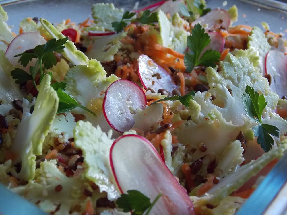 Salade de chou Romanesco