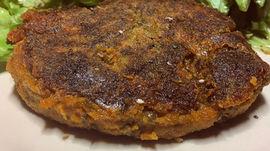 Steak végétarien aux lentilles