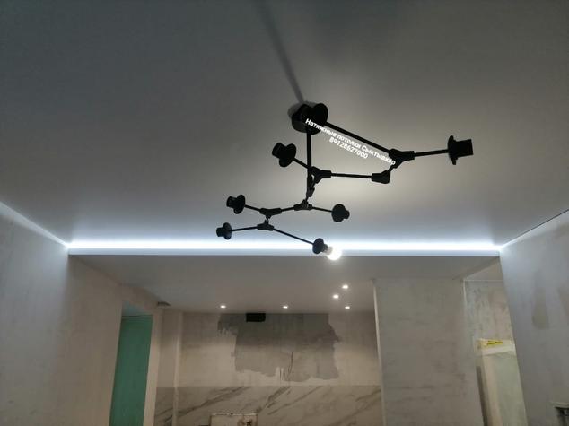 Парящий натяжной потолок кухня Сыктывкар