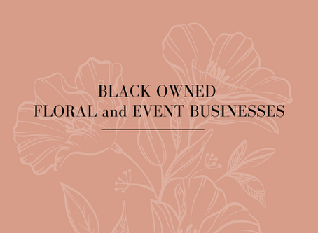 Black Owned Floral and Event Businesses in Houston